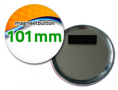 101 mm Magneetbutton dubbel