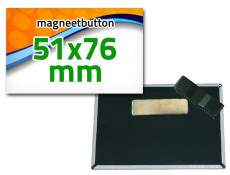 51x76 mm Magneetbutton dubbel